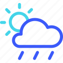25px, and, day, drizzle, iconspace, windy icon