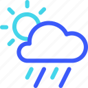 25px, day, heavy, iconspace, rain icon
