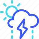 25px, day, iconspace, rainy, thunderbolt, with icon