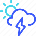 25px, day, iconspace, thunderbolt icon