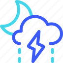 25px, drizzle, iconspace, night, storm icon