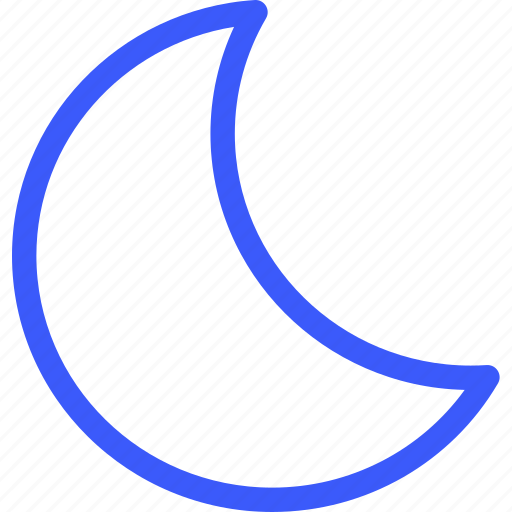 25px, half, iconspace, moon icon