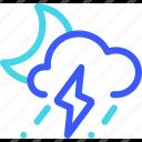 25px, iconspace, night, rainy, storm icon