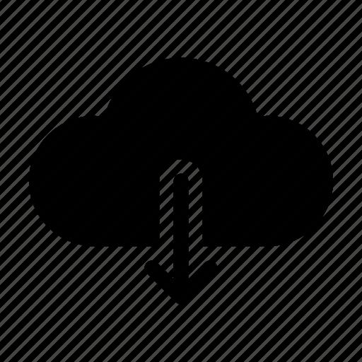 arrow, cloud, forecast, weather icon icon
