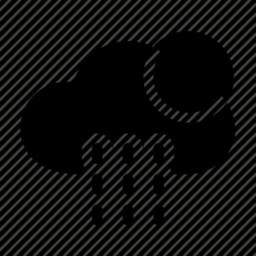 cloud, forecast, moon, night, rainy, weather icon icon