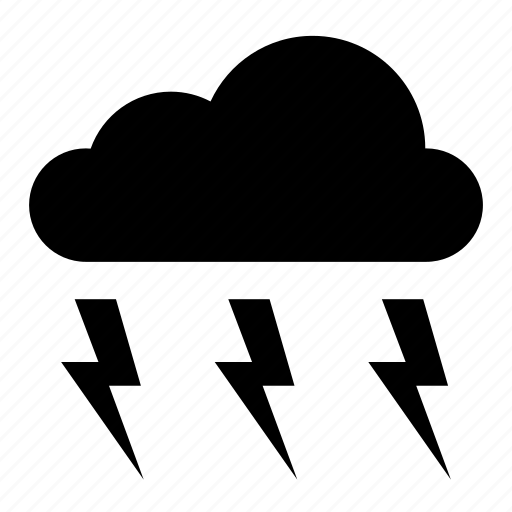 cloud, clouds, lightning, nature, sky, storm, weather icon