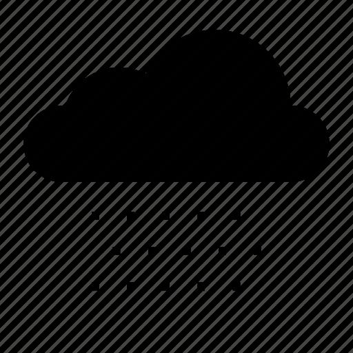 cloud, clouds, nature, rain, sky, snow, weather icon