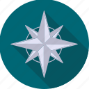 navigation, star, weather icon
