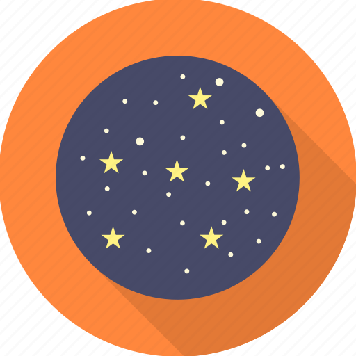 clean sky, nature, night, sky, star, stars, weather icon