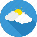 cloud, cloudy, forecast, hot sun, sun, sunrise, weather icon