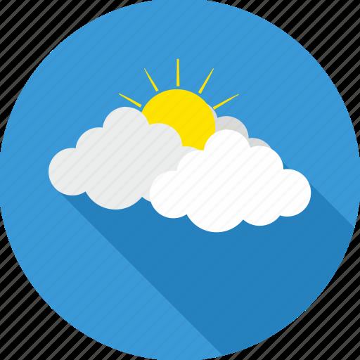 cloud, cloudy, forecast, hot sun, sun, sunrise, weather icon