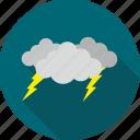 cloud, cloudy, lightening, storm, thunder, lightning, weather