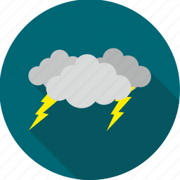 cloud, cloudy, lightening, lightning, storm, thunder, weather icon