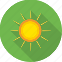 hot sun, nature, sun, sun rays, sunny, weather icon