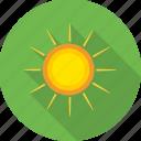 hot sun, nature, sun, sun rays, sunny, weather icon
