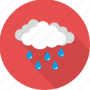 cloud, clouds, cloudy, rain, raining, rainy, weather icon