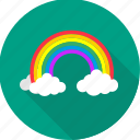 cloud, colorful, nature, rainbow, sky, vision, weather icon
