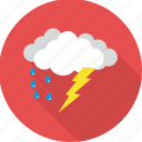 cloud, clouds, rain, raining, rainy, thunder, weather icon