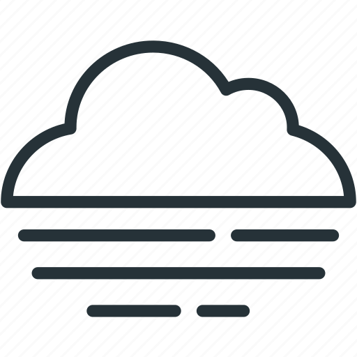 cloud, fog, foggy, weather icon