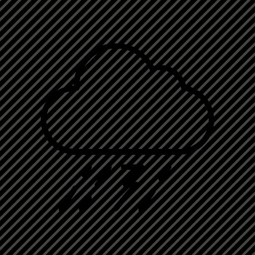 cloud, forecast, rain, thunder, weather icon