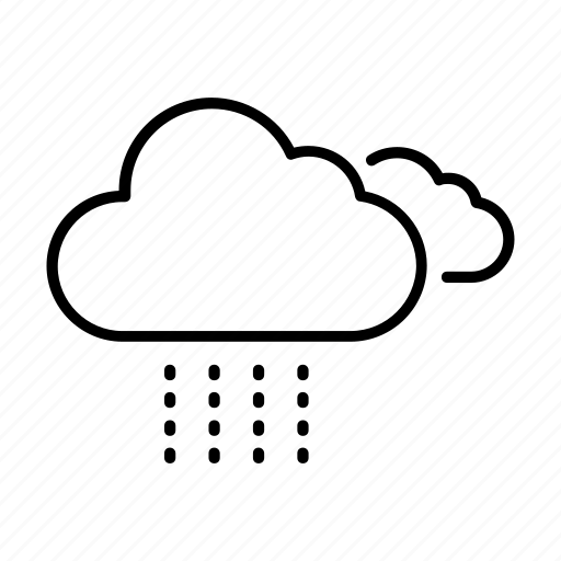 clouds, cloudy, drizzle, forecast, weather icon
