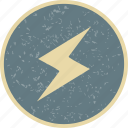 lightning, bolt, lightning button