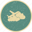 beauty, cloud, plane, travel, weather icon