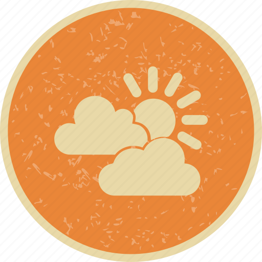 cloud, sun and clouds, sunny icon