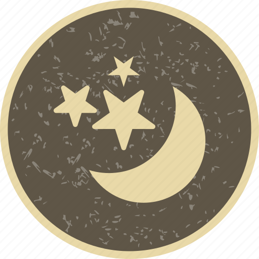 moon, moon and stars, night icon