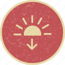 daylight, down, gorgeous, sun, sundown icon