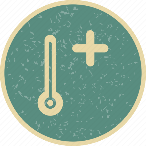 hot, summer, thermometer icon