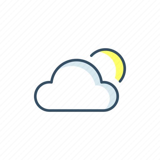 cloud, interaction, interface, moon, ui, weather icon