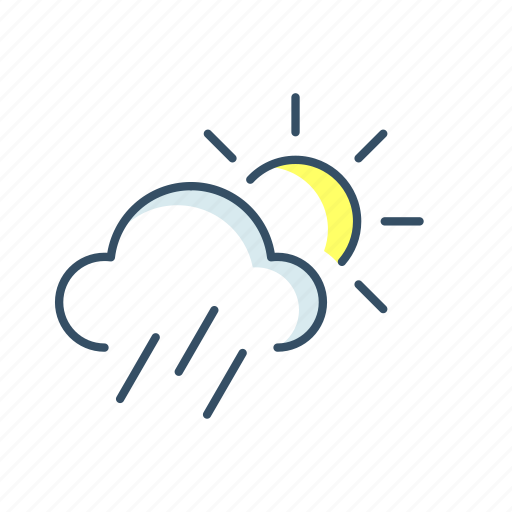 cloud, forecast, sun, ui, weather icon