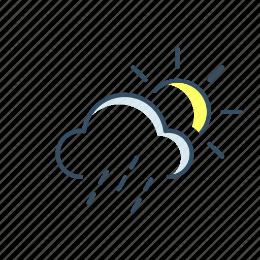 cloud, rain, storage, sun, ui, weather icon