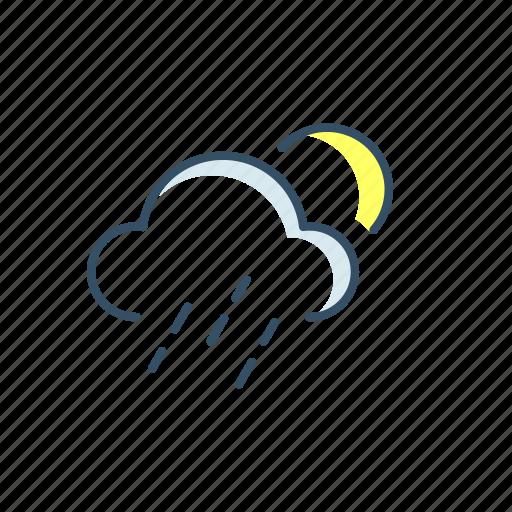 cloud, moon, storage, sun, ui, weather icon