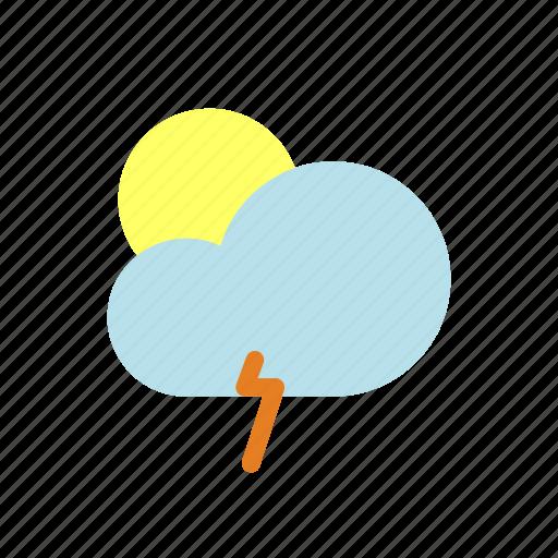 moon, rain, weather icon