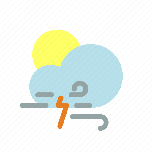 rain, sun, weather icon