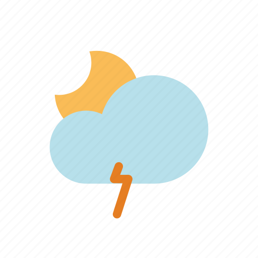 lightning, ui, weather icon