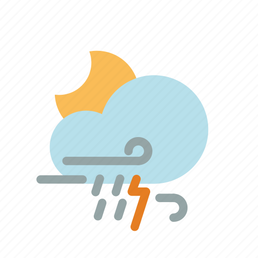 cloud, night, weather icon