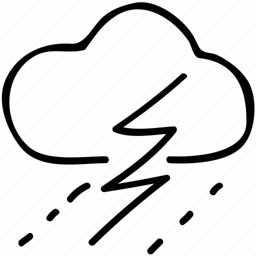 rain, storm, thunder, weather icon
