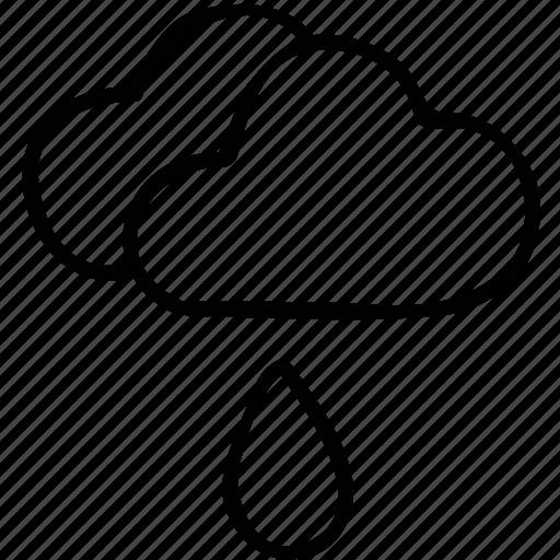 cloud, drop, rain drop, weather icon