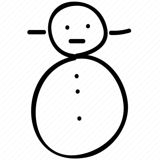 christmas, snowman, weather, winter icon