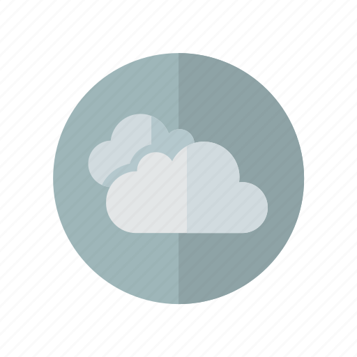 clouds, cloudy, gray, weather icon