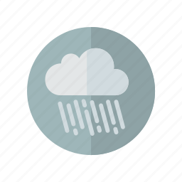 grey, hard, rain, weather icon
