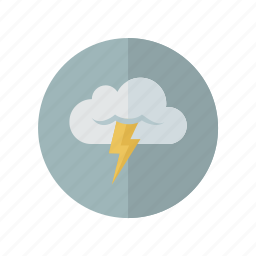 grey, storm, weather icon