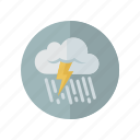 grey, rain, storm, weather icon