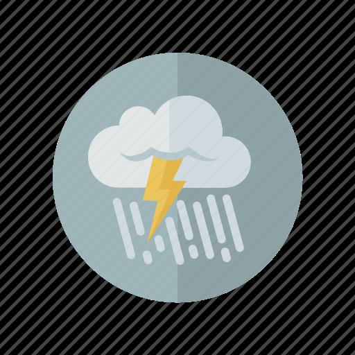 grey, rain, storm, weather icon