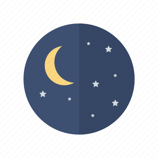 moon, night, weather icon