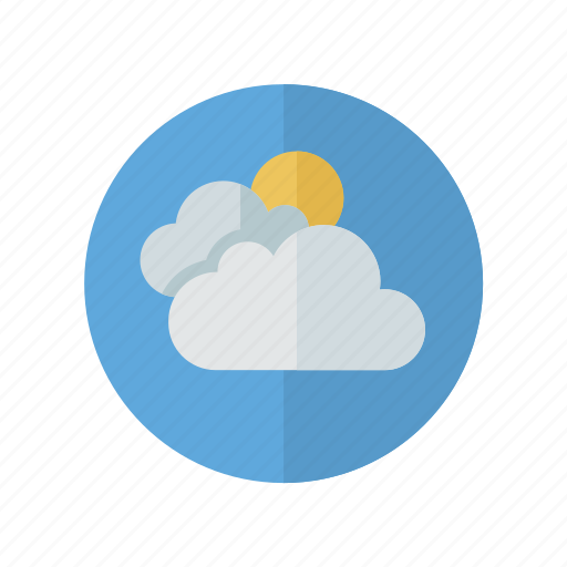 clouds, cloudy, more, sun, weather icon
