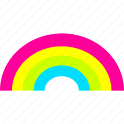 good weather, rainbow, weather icon